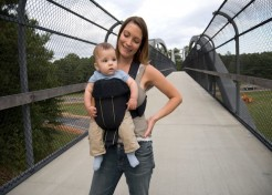 Breast Feeding In A Sling Or Carrier