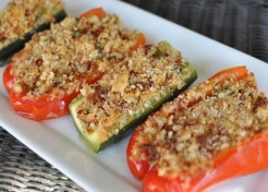 Parmesan and Sun Dried Tomato Stuffed Veggies