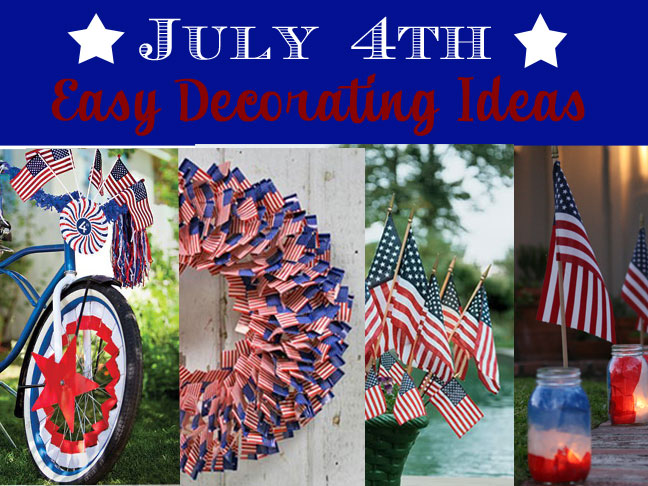 4th Of July Decorate With Flags
