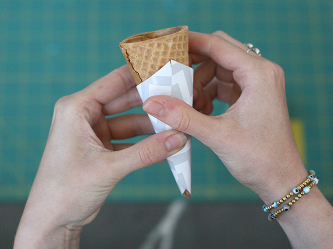 ice cream cone wrapper