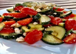 Chunky Pearl Tomato and Cucumber Salad