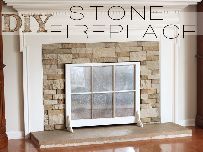 DIY: Stone Fireplace