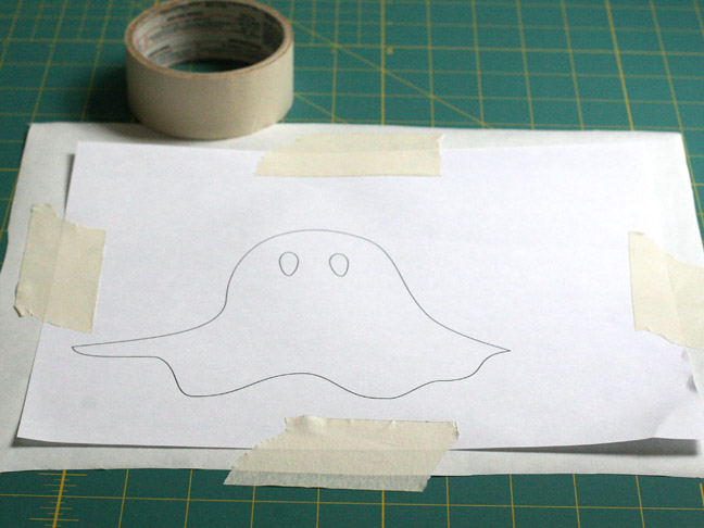 Stenciled Ghost T-Shirt DIY - Step 1