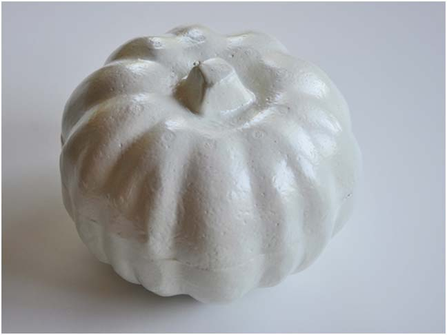 DIY Halloween Craft: Puffy Paint Pumpkin Step 1