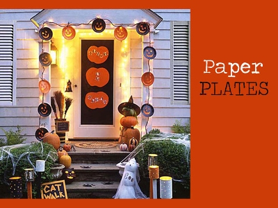 fall door decor paper plates - Fall Door Decorations