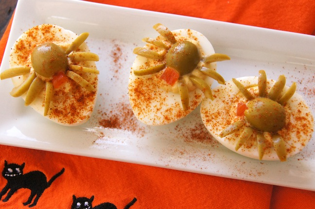 spider deiled eggs recipe step 8 - Deviled Eggs For Halloween Spider
