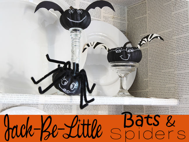 Jack-Be-Little Spider and Bat Craft DIY