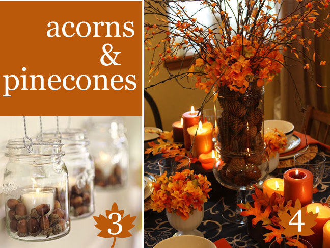 Thanksgiving table vase fillers