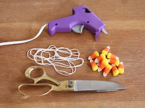Candy Corn Garland DIY - Supplies