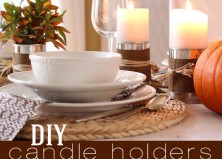 DIY: Rustic Candle Holders