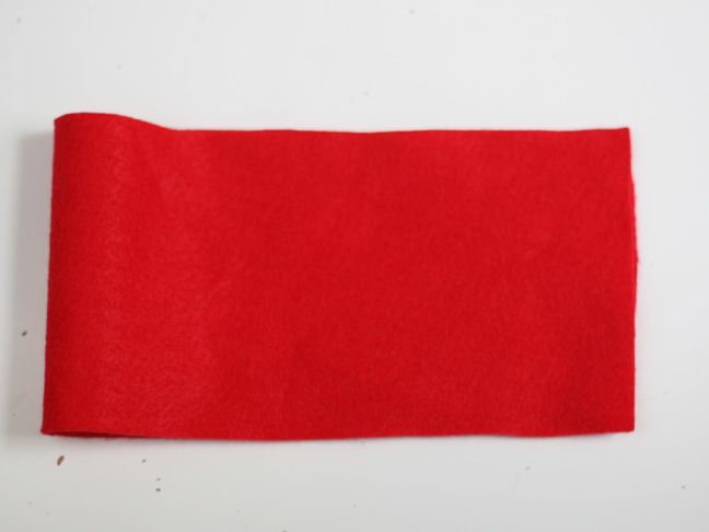 Christmas Red Felt Bow Craft - Step 2