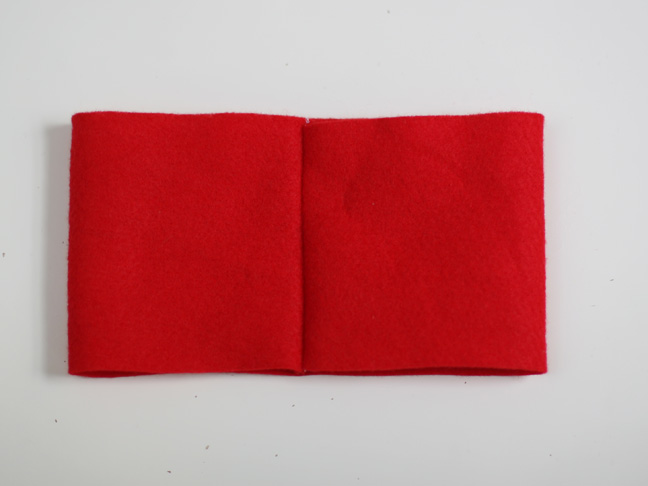 Christmas Red Felt Bow Craft - Step 4