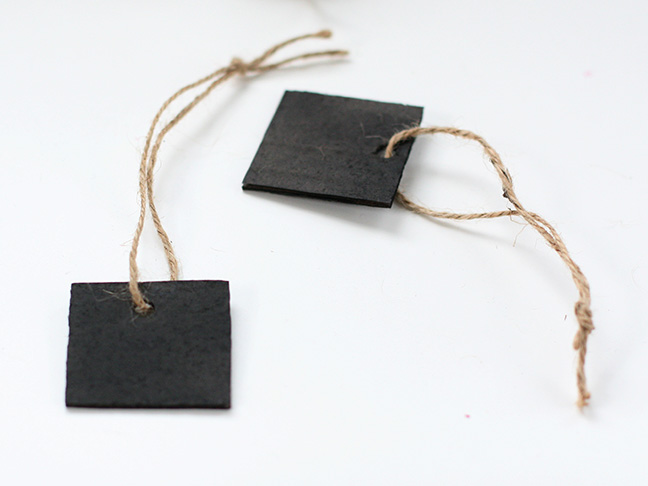 DIY Chalkboard Gift Tags - Step 6