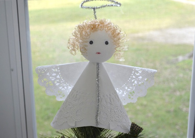 angel christmas tree topper craft - How To Make A Christmas Tree Topper