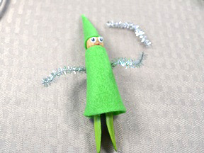 Christmas Elf Ornament Craft - Step 9