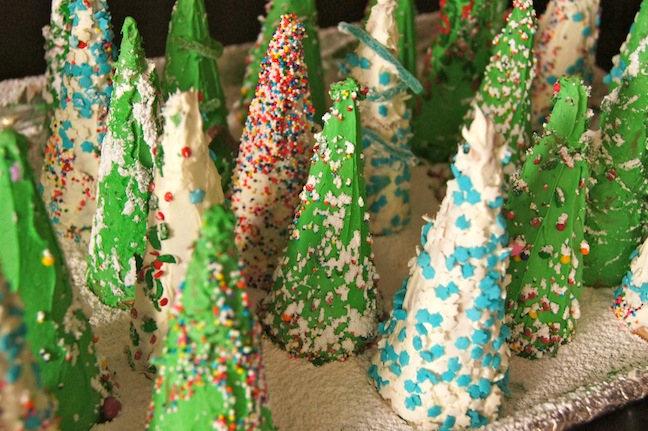 christmas tree ice cream cones