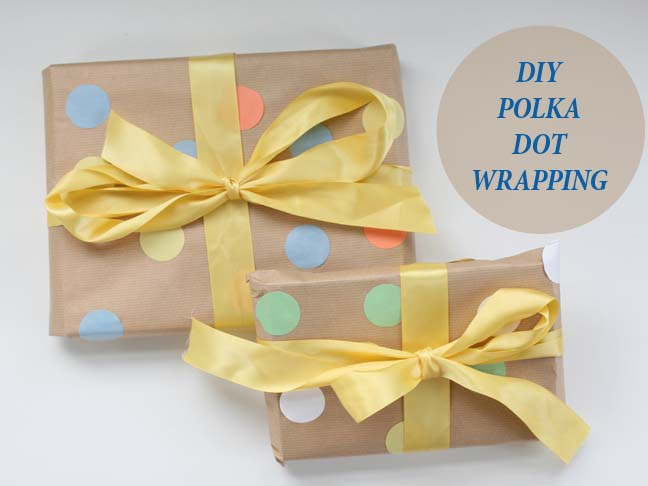 Polka Dot Wwraping Paper DIY