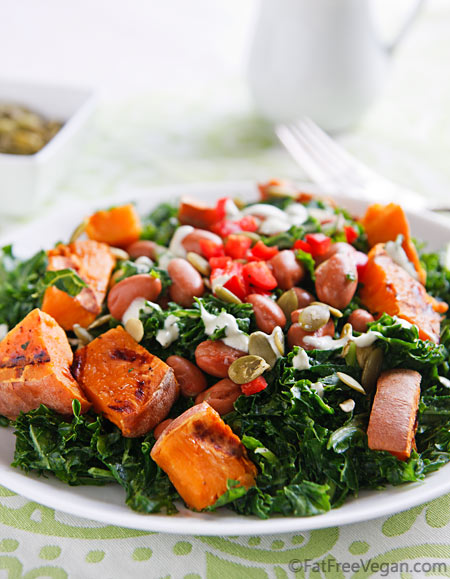 Kale Sweet Potato Pumpkin Seed Salad Recipe