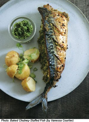 Chutney Stuffed Fish Recipe