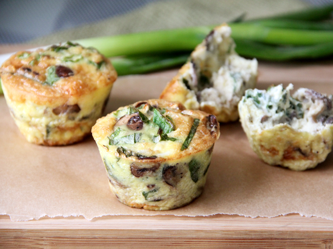 Mushroom Goat Cheese Frittata Cups Recipe