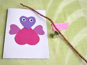 Homemade Love Bug Card Craft - Step 8