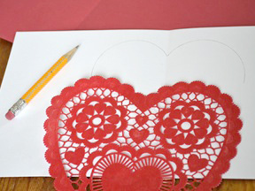 Homemade Heart Pop-Up Card Craft - Step 4