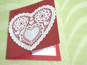 Homemade Heart Pop-Up Card Craft - Step 11