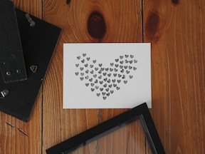 DIY Heart Stamp Art - Step 4