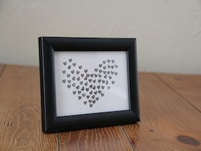 DIY Heart Stamp Art - Step 5