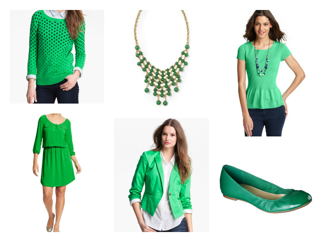 Green Fashion for St. Patrick's Day