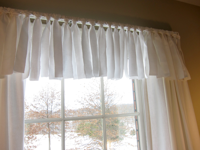 Homemade Valances For Windows : Easy no sew window valance