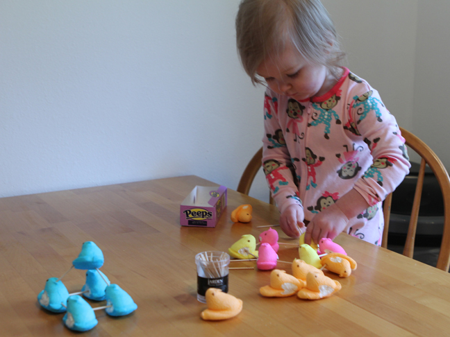 Easter Craft: Peeps Tower