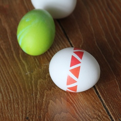 Taped Easter Eggs
