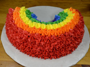 Rainbow Cake Recipe - Step 13