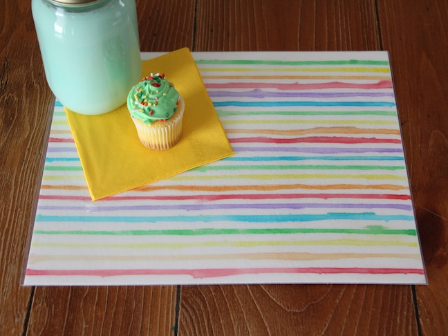 St. Paddy's Day Rainbow Placemat DIY