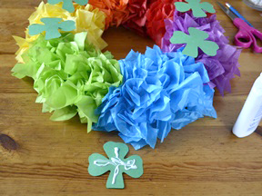 Rainbow Wreath Craft - Step 9