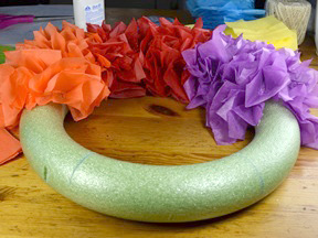 Rainbow Wreath Craft - Step 6