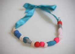 Kids Craft: Clay Ribbon Necklace