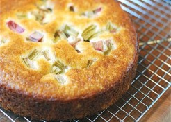 Rhubarb Yogurt Cake