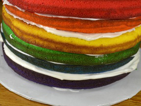 Rainbow Layer Cake - Step 17