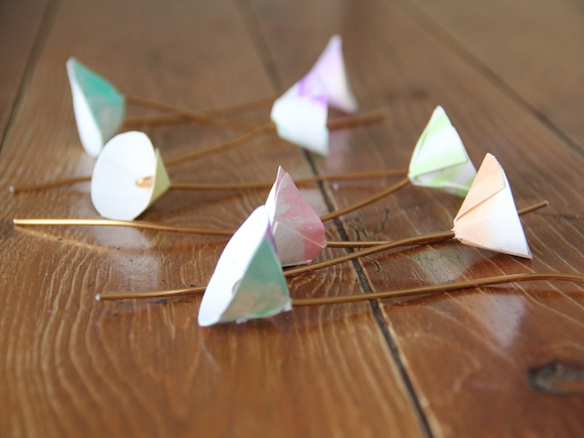 Spring Paper Flowers DIY - Step 9A