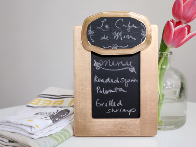 Chalkboard Menu DIY