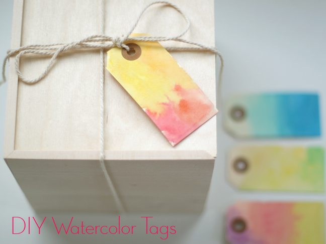Wwater colour Gift Tags DIY