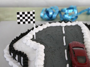 Race Car Cake Recipe - Step 19