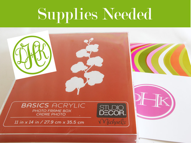 Acrylic frame box and other materials you need for the tray