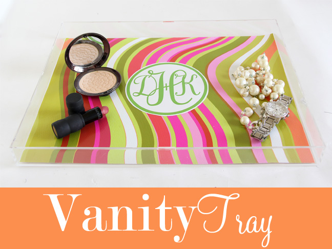 DIY: Lucite Tray