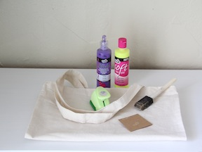Polka Dot Tote DIY Craft - Materials