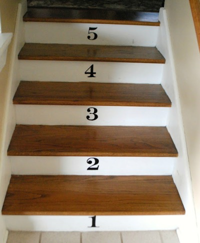 Painted Numbered Stairs