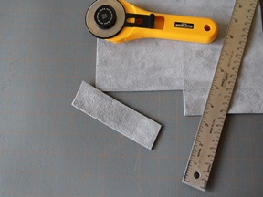 Leather Bookmark Craft - Step 1