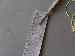 Leather Bookmark Craft - Step 3